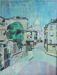 Pierre Louis Maurice Courtin-french Fauvist-original Signed Oil-paris Street