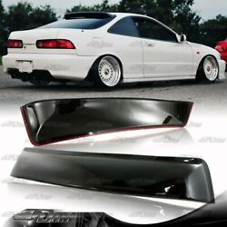 For 1994-2001 Acura Integra 2dr Coupe Black Abs Plastic Rear Roof Spoiler Wing