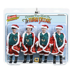 Three Stooges 8 Inch Action Figures Christmas Time With The Three Stooges 4 Pack