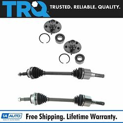Trq Rear Cv Axle Shafts With Hubs And Wheel Bearings Kit Set For Ford Mercury Suv