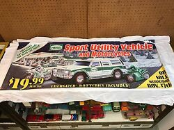 Rare Hess Store Banner 2004 Toy Truck Suv And Motorcycle 4 Ft 2 In X 1 Ft 8 In