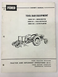 Ford Tractor Tool Bar Equipment Owner's Manual