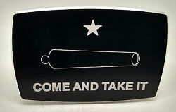 Come And Take It, Billet Aluminum Trailer Hitch Plug Cover, 4x6 Arched