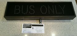 New Signal Tech Tcl726a-b135 Led Traffic Controller Led Bus Only Sign Amber