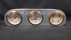 1960 1961 1962 1963 Ford Falcon 3 Gauge Cluster Gold