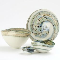 19 Charger Serving Plater Artisan Glass Milky-way Galaxy Large Round Swirl