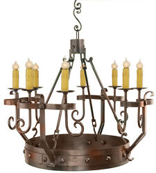 Kings Dining Hall Stamped and hand pounded Iron Hand Crafted  Chandelier