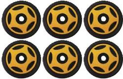 Front And Mid Rail Gold Idler Wheels Kit Snowmobile Arctic Cat Super Jag 1987-1991