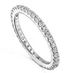 NEW Women Sterling Silver Wedding Band Anniversary Thin CZ Skinny Ring Size 4 10 $12.95