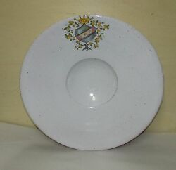 Antique French Or Italian Majolica Or Faience Large Ceramic Bowl