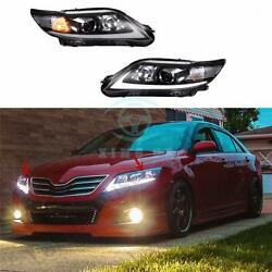 White Light LED Day Time Front Headlights Assembly For Toyota Camry 2010-2011