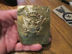 Rotc Dress Hat Eagle Emblem Insignia Badge Cap Officers Us Army In Wrapper