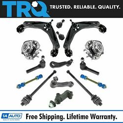Trq 15pc Steering Suspension Kit Control Arm Tie Rod Ball Joint Sway Link Hub