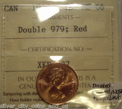 Elizabeth Ii 1979 Doubled 979 Face And Maple Lf Small Cent - Iccs Ms-66 Xkd-737