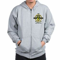 1ST CALVARY DIVISION CAMPAIGNS  2-SIDED LEFT CHESTBACK EMBLEM ZIPPER HOODIE