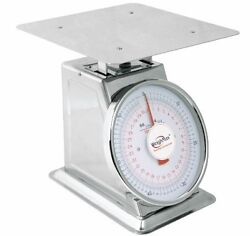 Weighmax 66lb Mechanical Stainless Steel Dial Kitchen Scale Food Scale