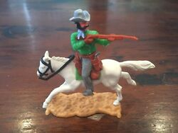 Timpo New Zealand Mounted Cowboy 2 - Lime Green Variation - Wild West - 1970s