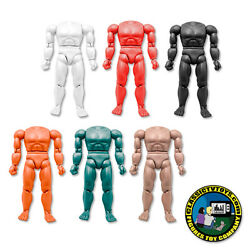 Set Of 6 Different Colored 8 Inch New Muscular Bodies Retro Scale