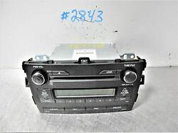 2010 Toyota Corolla Am-fm-cd Radio Assembly Id A518a3 On Radio Face