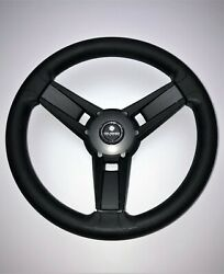 New Gussi Italia Boat Steering Wheel Giazza Matte Grey Soft Touch Rim - Splined