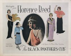 BLACK PANTHER'S CUB THE (1921) Half sheet poster ft. Florence Reed  Art Nouvea
