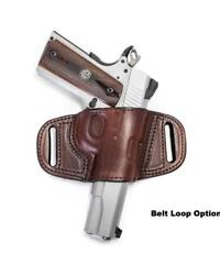 QUICK DRAW BELT SLIDE HOLSTER FOR KEL-TEC PF9 - RIGHT HAND- BLACK  BROWN