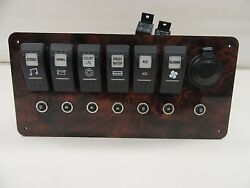 RINKER GODFREY ROCKER SWITCH  12V OUTLET  BREAKER PANEL 9 12