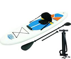 Bestway Hydro-force 10 Foot Inflatable Stand Up Paddle Board Sup And Kayak White