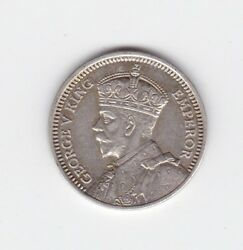1933 3p Threepence Silver New Zealand Nz Coin Shows 8 Pearls J-850