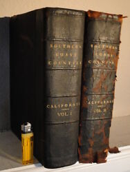 Antique Leather A History Of California Complete 2 Volume Book Set By J.m. Guinn