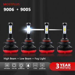 Mostplus Combo Led Headlight High Low Beams 9005+9006 Bulbs 6000k Total 120w