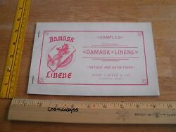 Damask Linene Antique Satin Bond paper company 1940s Boston catalog of examples