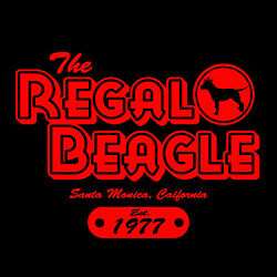 THE REGAL BEAGLE T-shirt - Three's Company *John Ritter*