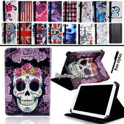 Universal Folio Stand Leather Cover Case For Various 8