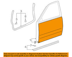 TOYOTA OEM 01-07 Sequoia-Door Skin Outer Panel Left 671120C030