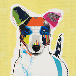 JACK RUSSELL TERRIER DOG ART:  Colorful Dog Art Print Modern Dog Art by KECK