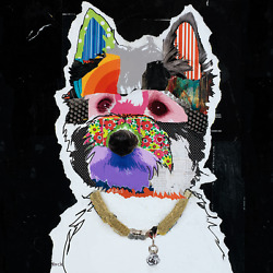 West Highland Terrier Art - Modern Colorful Dog Art Print of Westie Dog by KECK