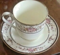 Noritake Brently Cup And Saucer Bone China 9730 New