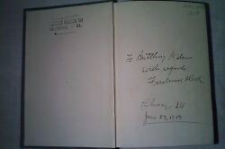 Rare Vintage Book Signed Explorer Frederick Cook To Boxing Champ Battling Nelson