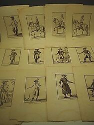 12 French Revolution Army Soldier 1779 Antique Graphic Art Print