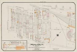 1913 Montreal Canadian Pacific Railway Roundhouse Old Orchard-decarie Atlas Map