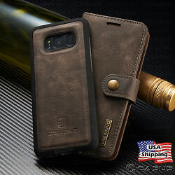 For Galaxy S20 S10 S9Note 20 10 9 8 Leather Removable Wallet Magnet Case Cover