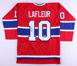 Guy Lafleur Signed Montreal Canadiens Hockey Jersey Jsa 5xstanley Cup Champion