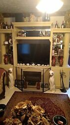 Beautiful Entertainment Center W/fireplace And 47' Flatscreen Tv Included