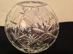 Hand Cut 24 Leaded Crystal Glass Bowl Vase Caprice And Lismore Made In Poland