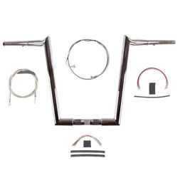 1 1/4 Chrome Wild 1 16 Hooked Bar Kit 2008-2013 Harley Road Glide King W/abs