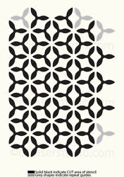 Moroccan Stencil Allover Pattern Paint Wall Furniture Reusable Crafts Art Te195