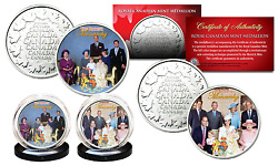 British Monarchy Princess Diana Then And Now Royal Canadian Mint Rcm 2-coin Set