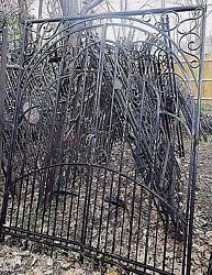 WROUGHT IRON DRIVEWAY GATES ENTRY WAY ART WORK HANDCRAFTED 65'' x 84