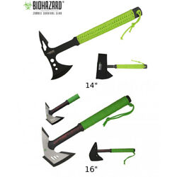 Zombie Axe Choose Your Style 14 16 Biohazard Ax Green Paracord Handle
